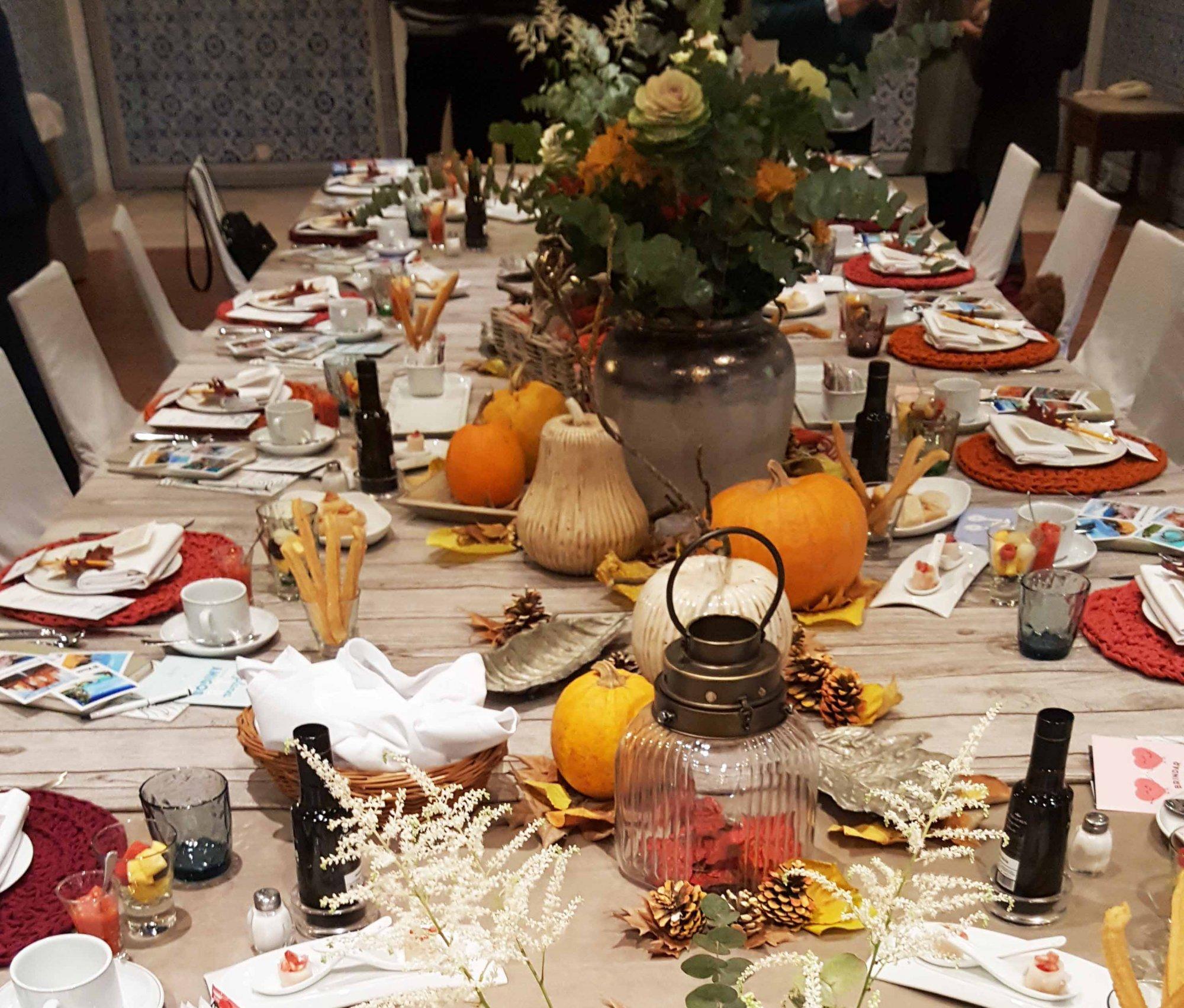 Detalle centro mesa Parador de Chinchón bodas